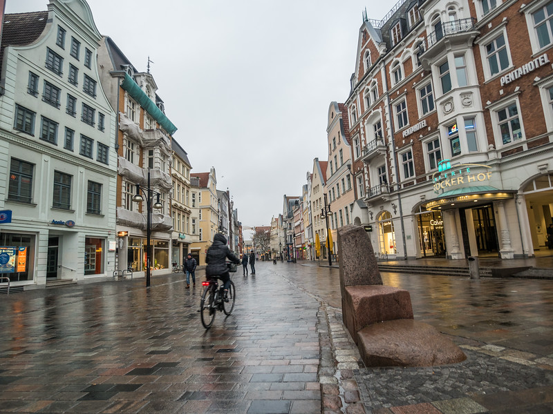 Speeding through Rostock, Germany