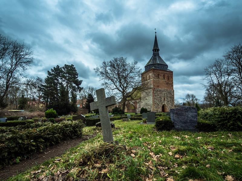 Winter Cemetery Scene, Lüssow, Germany