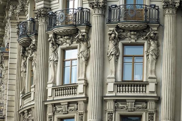 Fancy Feminine Caryatids, Moscow