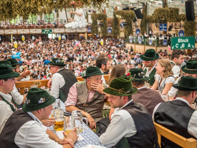 Hofbräuzelt Scene, Oktoberfest, Munich