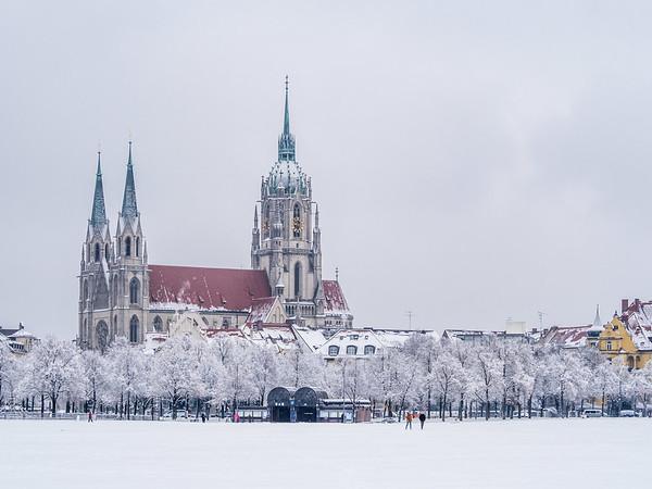 Winter on St. Paulskirche, Munich