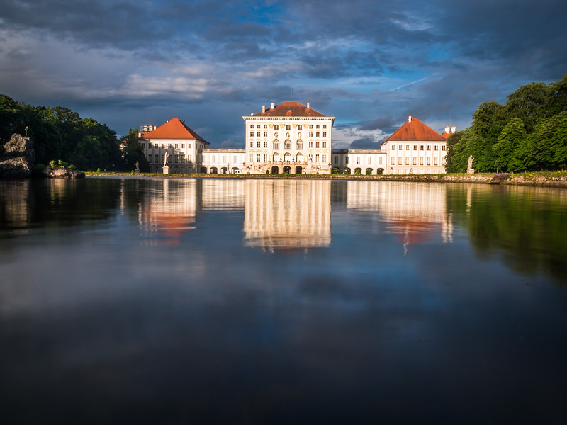 Nymphenburg Schloss in Blue, Munich, Germany
