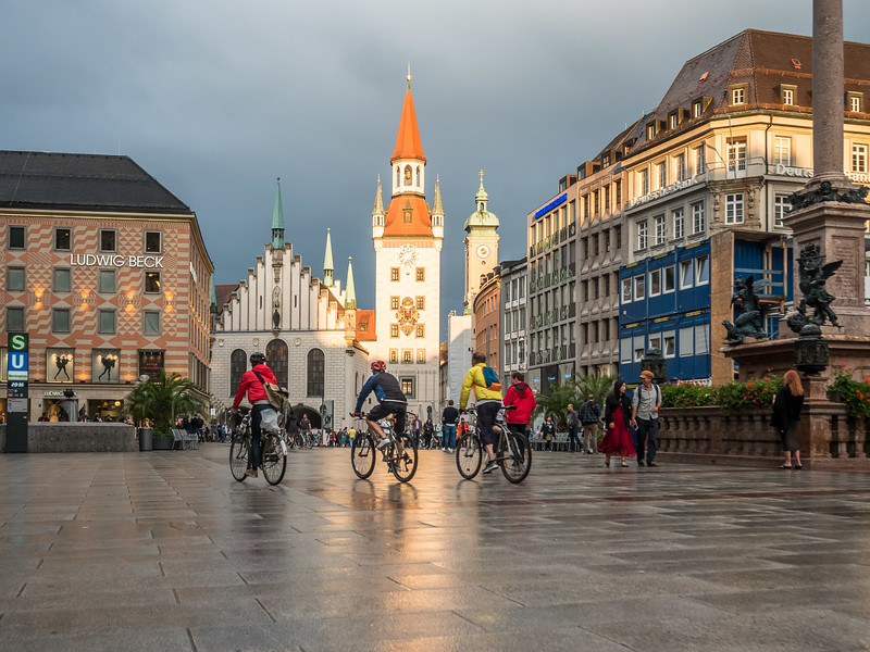 Marienplatz after Rain, Munich, Germany