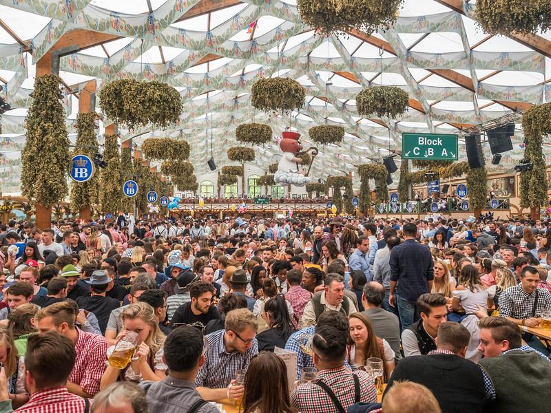 Inside the Hofbräuzelt, Oktoberfest, Munich