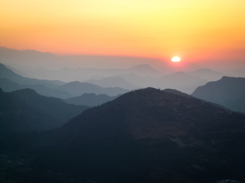 Sunrise Over the Himalayan Foothills, Pokhara