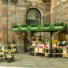 Flower Sellers outside St. Anne's Church, Manchester, England