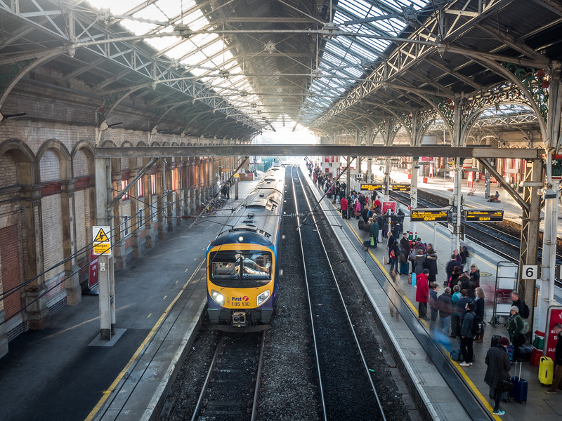 Inside the Preston Train Station