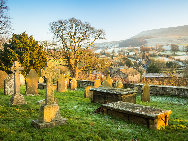 The Old Church Cemetery above the Village, Downham