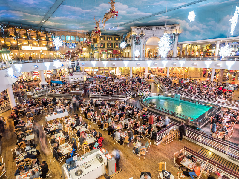 Spectacular Food Court of the Trafford Centre, Manchester