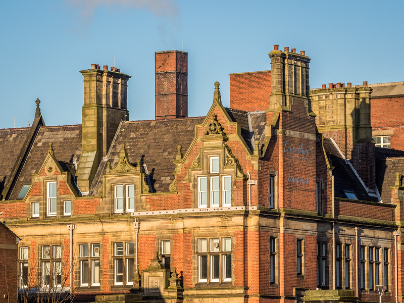 Rearview of the Preston County Hall, Preston