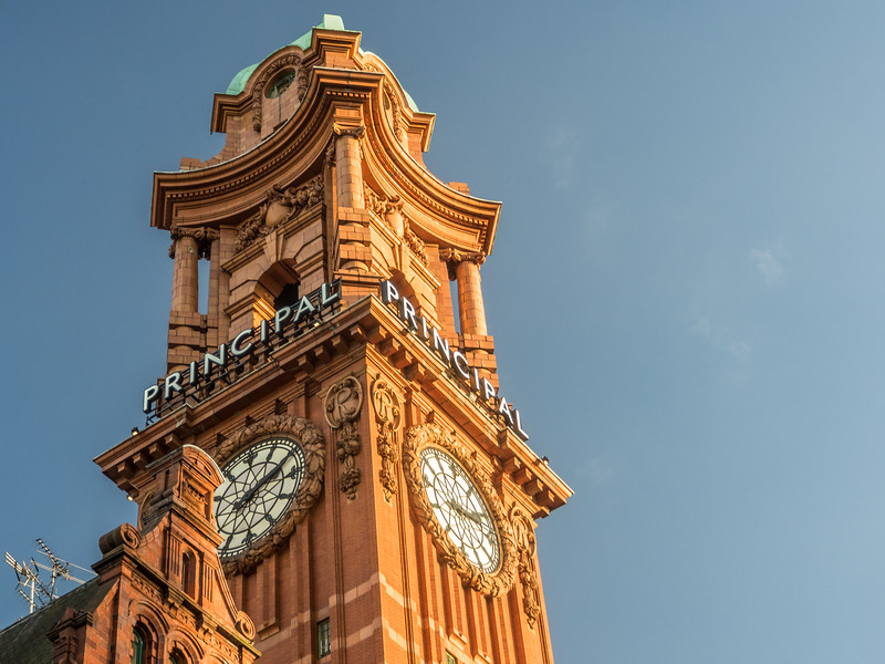 Clock Tower of The Principal Manchester