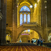Christmas Seating at the Liverpool Cathedral