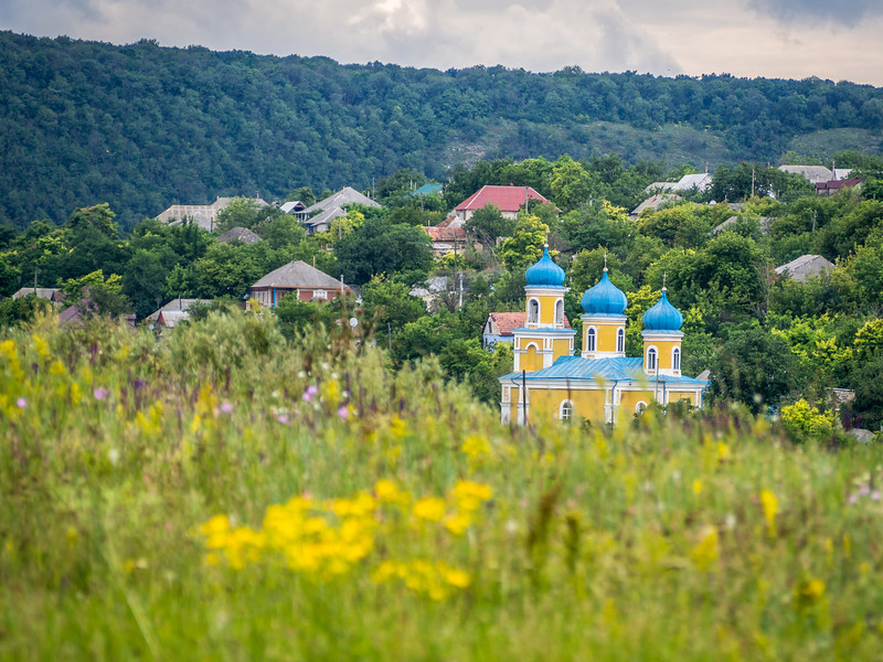 Trebujeni Church among the Hills, Moldova