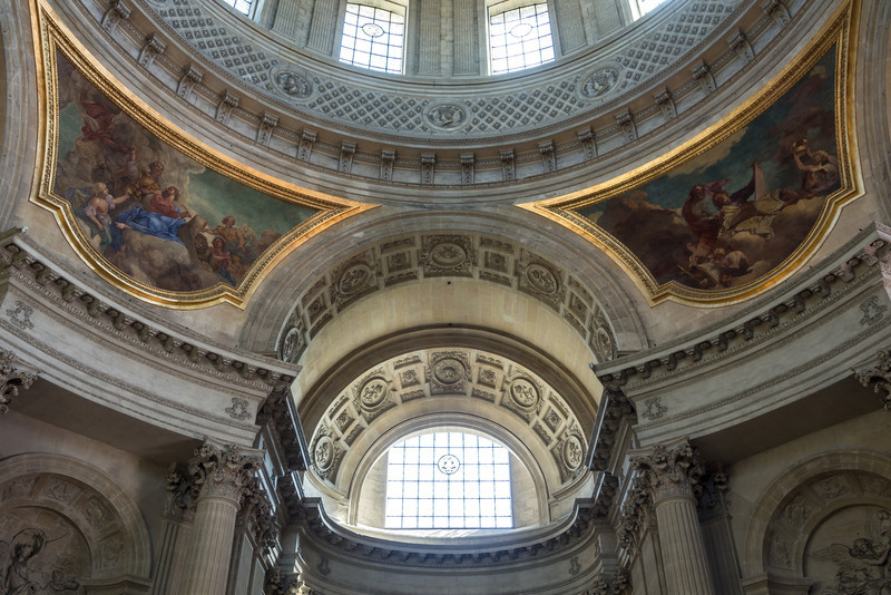Frescos above Napolean's Tomb, Paris