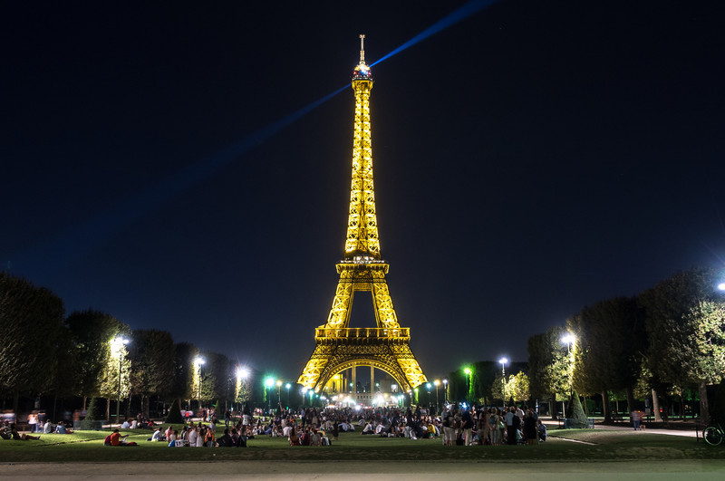 Champs de Mars Night, Paris
