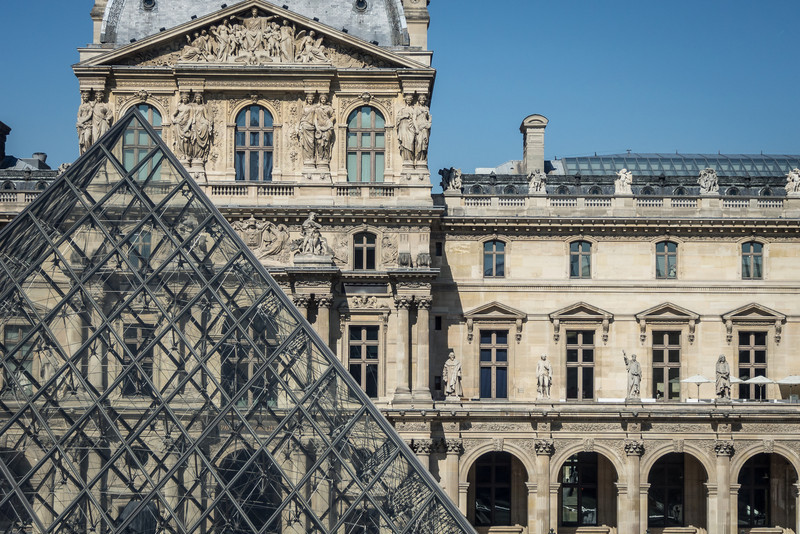 Across the Louvre Courtyard, Paris