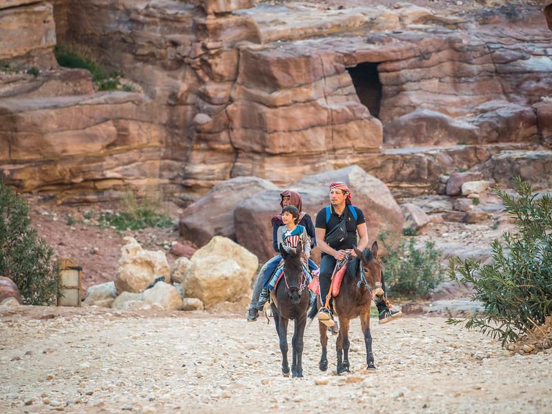Family on Horseback, Petra