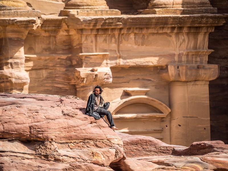 Bedouin on a Break, Petra