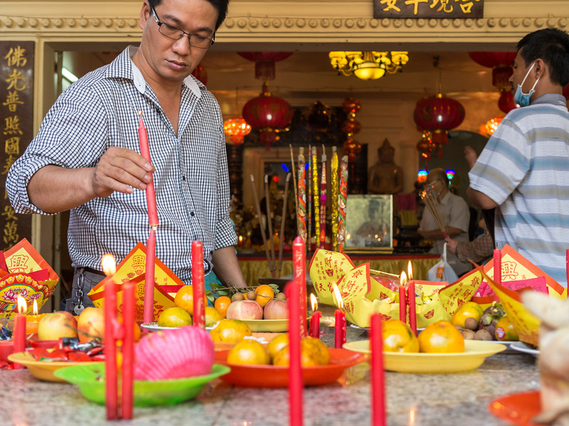 Candles and Offerings, Wat Phnom, Phnom Penh