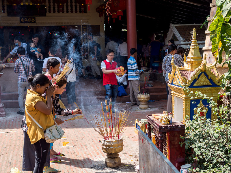 Seeking Blessings, Wat Phnom, Phnom Penh