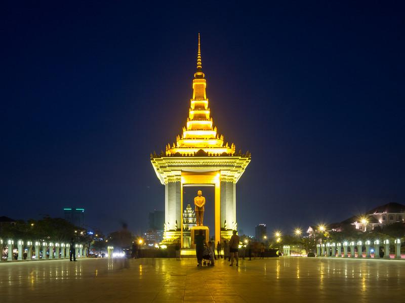 Plaza at the Sihanouk Memorial, Phnom Penh, Cambodia