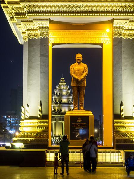 Sihanouk at Night, Phnom Penh