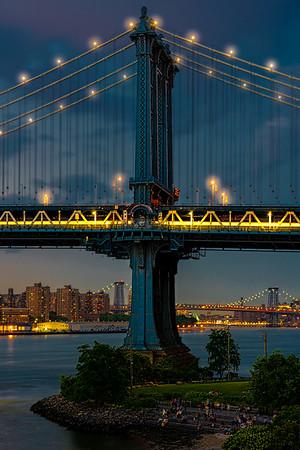 Blue Hour At The Manhatttan Bridge