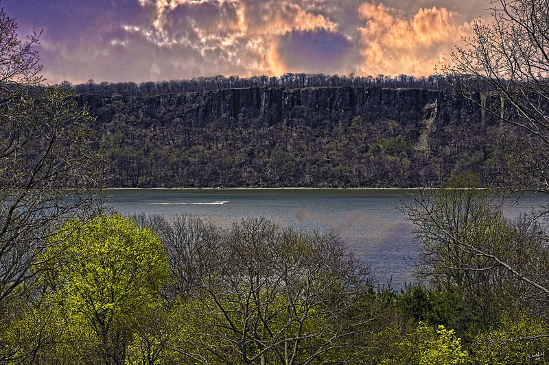 The Palisades Viewed Across The Hudson From New York