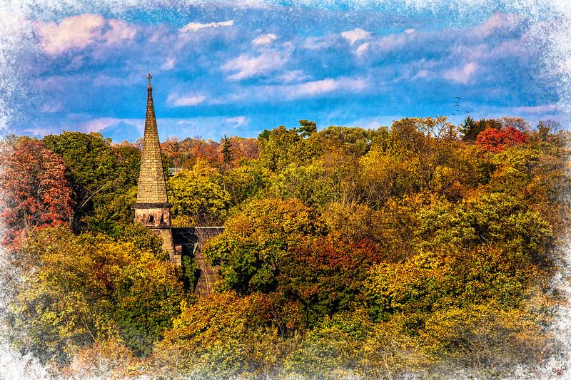 Autumn Spire, Poughkeepsie, New York State,