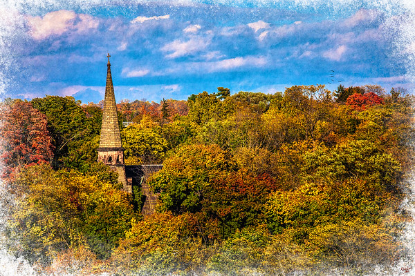 Autumn Spire, Poughkeepsie, New York State,