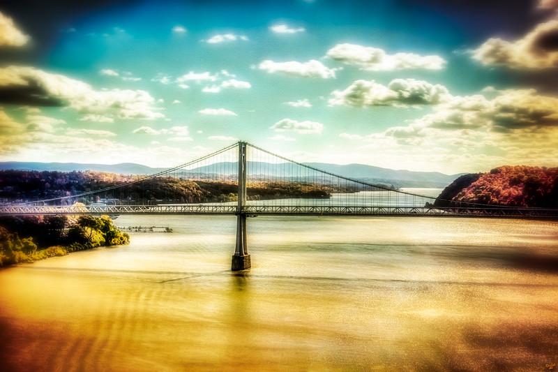 Franklin Delano Roosevelt Mid Hudson Bridge Landscape, Poughkeepsie, New York State,
