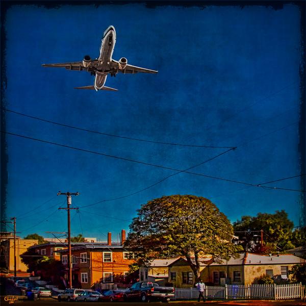 Jet Path Over San Diego