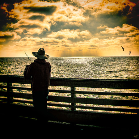 Fishing On Ocean Beach Pier