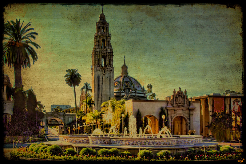 Sunset On El Prado, Balboa Park, San Deigo, California