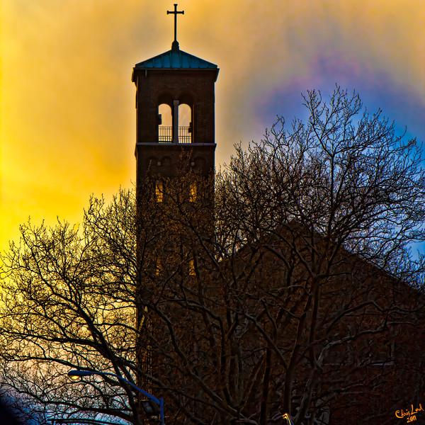 Hoboken Church at Sunset