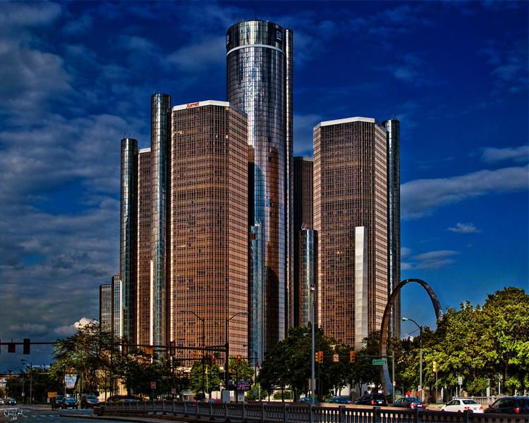 Detroit's GM Buildings & Marriot Hotel