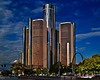 Detroit's GM Buildings & Marriot Hotel
