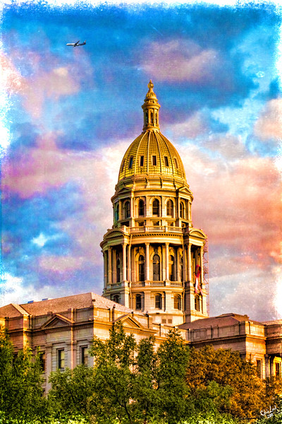 The Capitol Dome at Sunset, Denver, Colorado