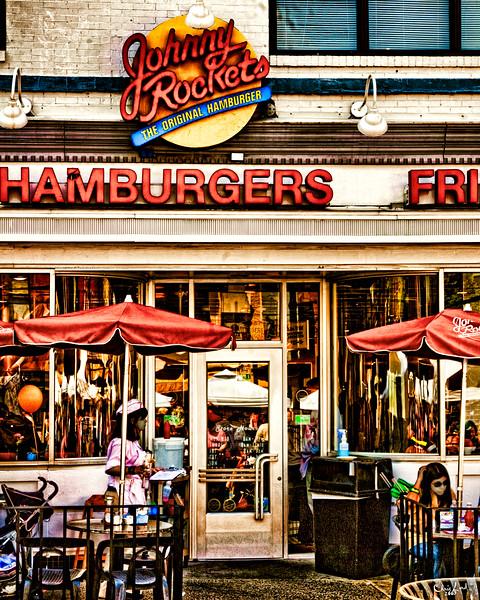 Johnny Rockets Burger Joint In Hoboken