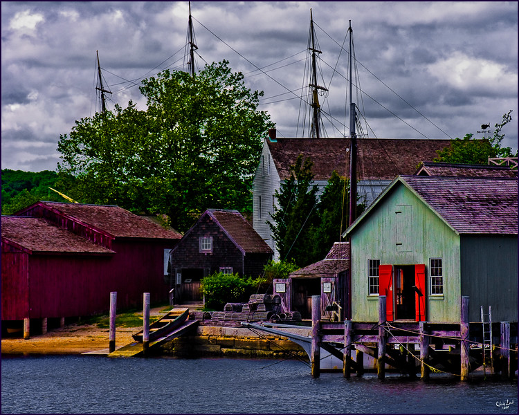 A Lobsterman's Home At Mystic Seaport In Connecticut