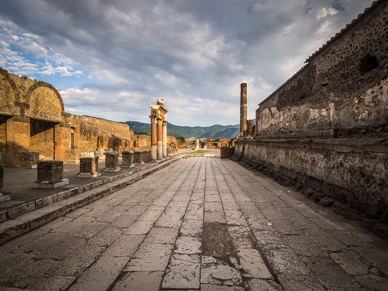 Road to the Forum, Pompeii, Italy