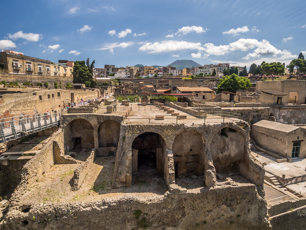 View over the Ruins of Herculaneum