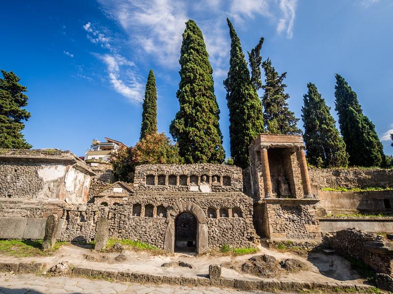 The Pompeii Cemetery, Italy