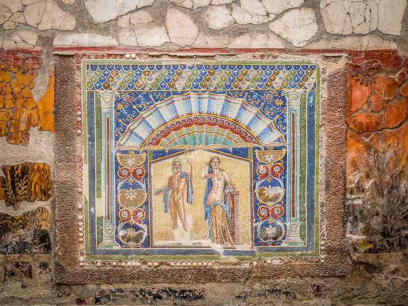 Neptune and Salacia Mosaic, Herculaneum