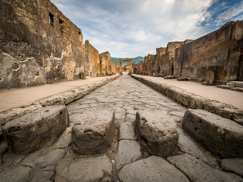 Old Roads, Pompeii, Italy