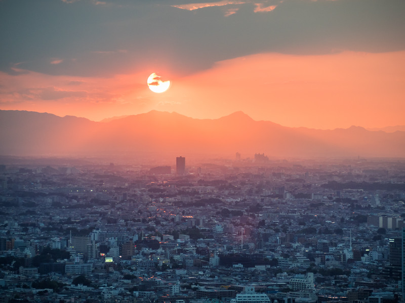 Distant Sunset, Tokyo, Japan