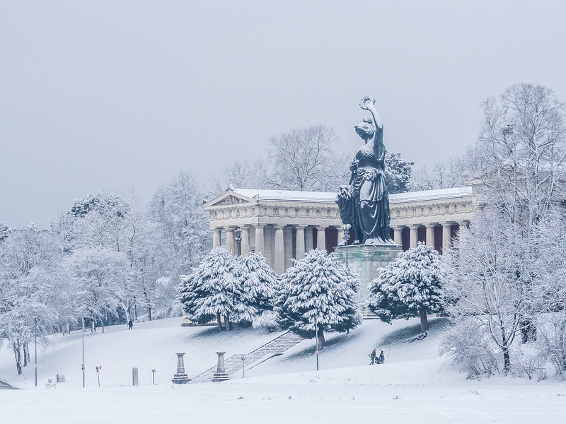 Winter Snow on Bavaria, Munich