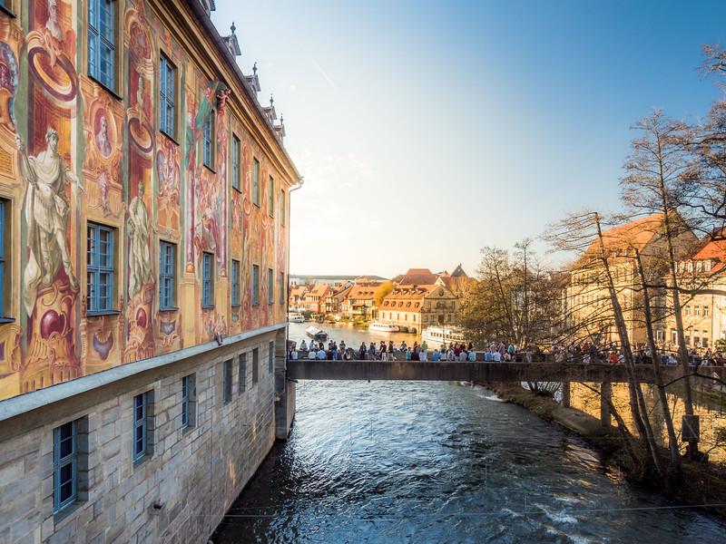 Sunday Evening Behind the Rathaus, Bamberg, Germany