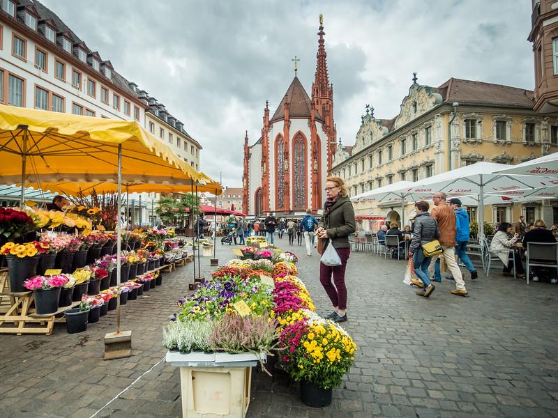 Flower Market, Würzburg, Germany