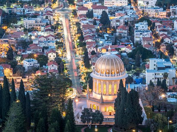 Night Above the Shrine of the Báb, Haifa, Israel